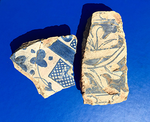 Valencian tile fragments