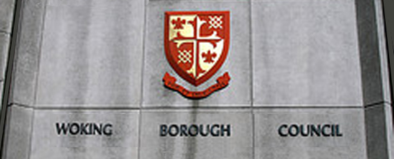 Woking Borough Council<br />uses the coat of arms